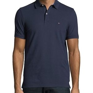 TOMMY HILFIGER men's soft navy polo shirt